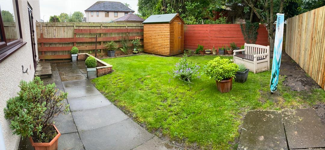 Garden in Stenhousemuir prior to landscaping