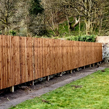 Supply and erect 6ft garden fencing after tree & shrub removal.